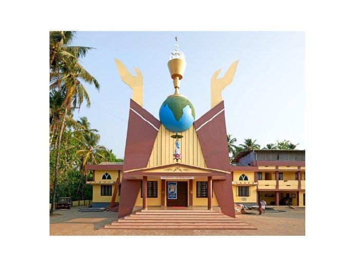 印度南部喀拉拉邦地区的教堂