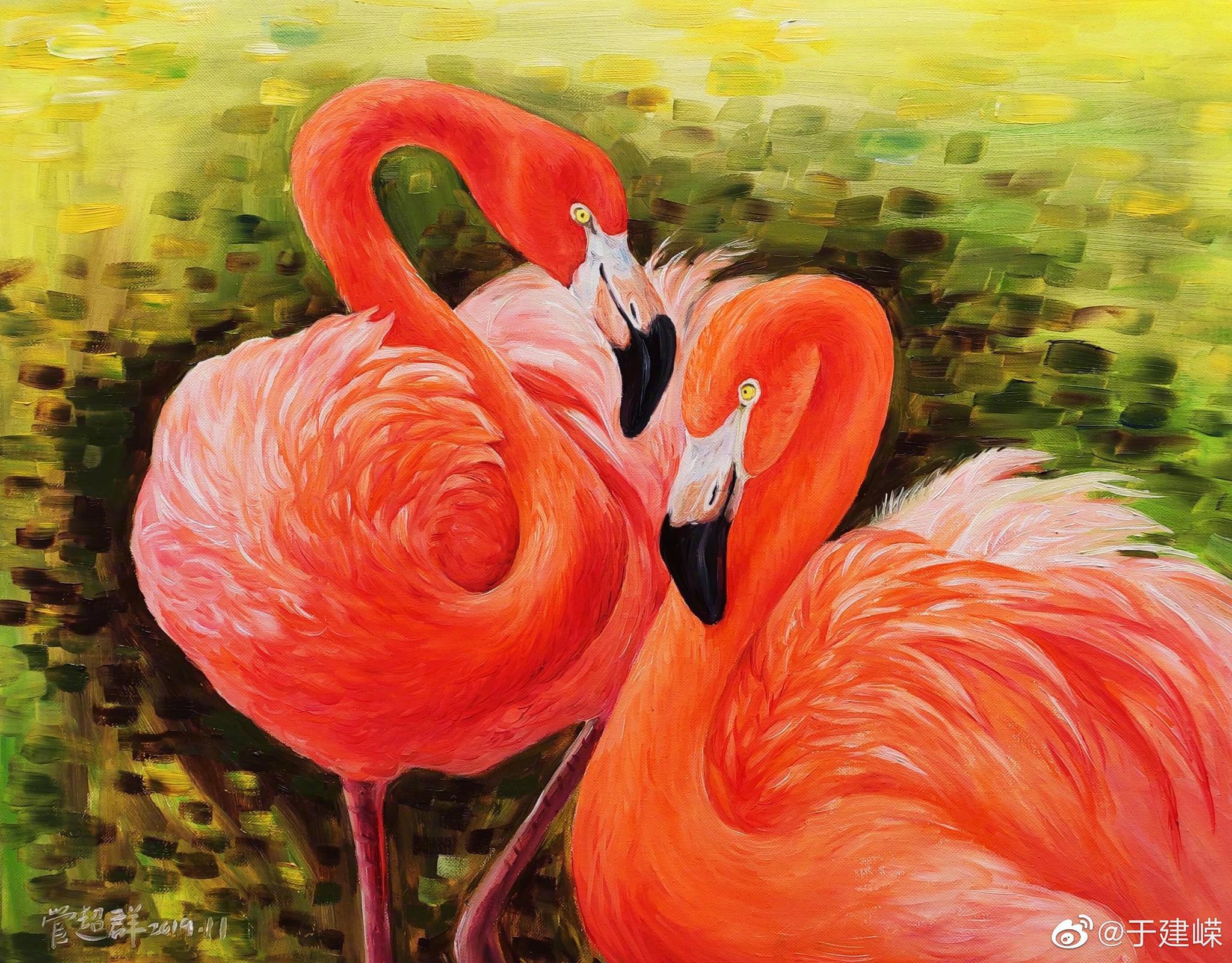 管超群油画作品——《幸福生活之相亲相爱》 为感谢大家对这位坚强的