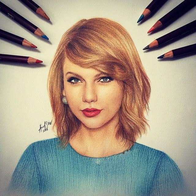 16歲少年曬手繪,畫愛莉安娜只用3支畫筆,畫霉霉能用這么多?