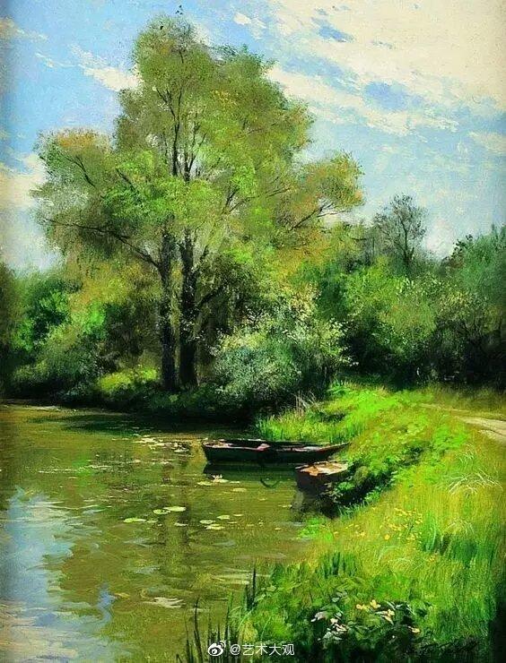 俄罗斯画家Serguei Toutounov风景油画-1