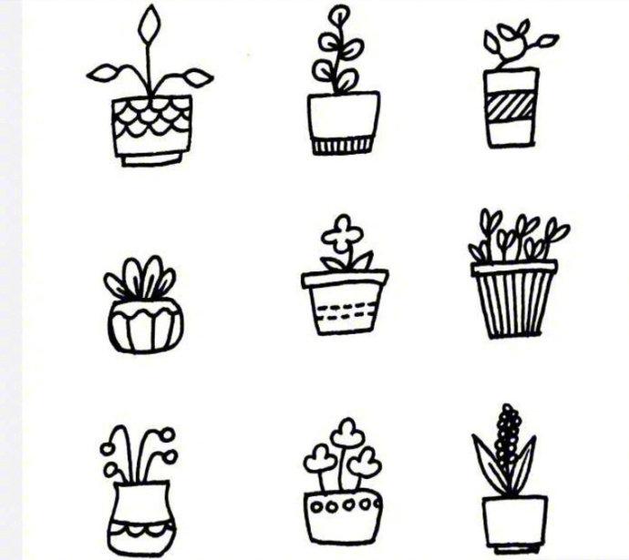 关于小花小草的简笔画 闲暇时候画一画,还能教小朋友 财经头条