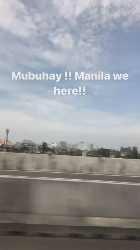 朴宰范ins限时视频更新一则~ 配文内容: 马尼拉 我们到啦!!