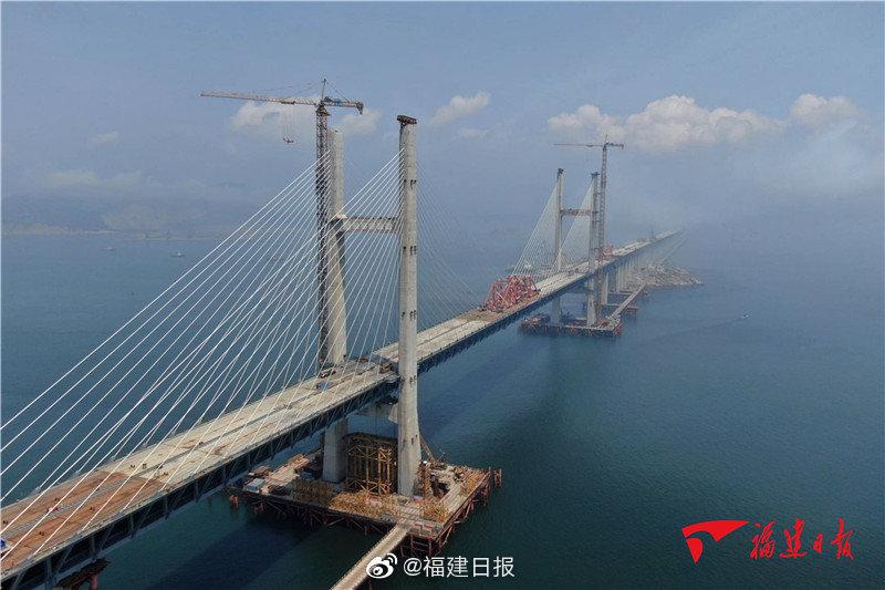 中国首座跨海公铁两用桥将于9月底贯通 福州到平潭半小时