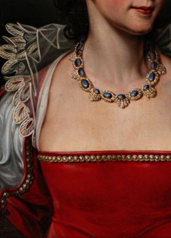 油画中的珠宝丨项链你能看出都是哪些风格时期吗?