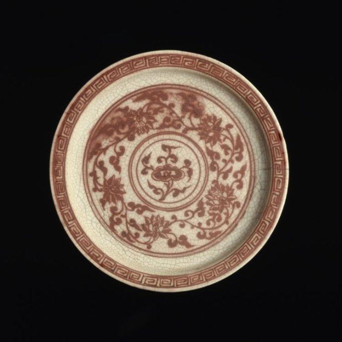 大英博物馆元、明代红釉藏品