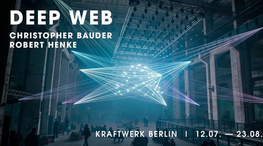 灯光装置作品《深网》(Deep Web)是德国媒体艺术家克里斯托弗鲍德尔
