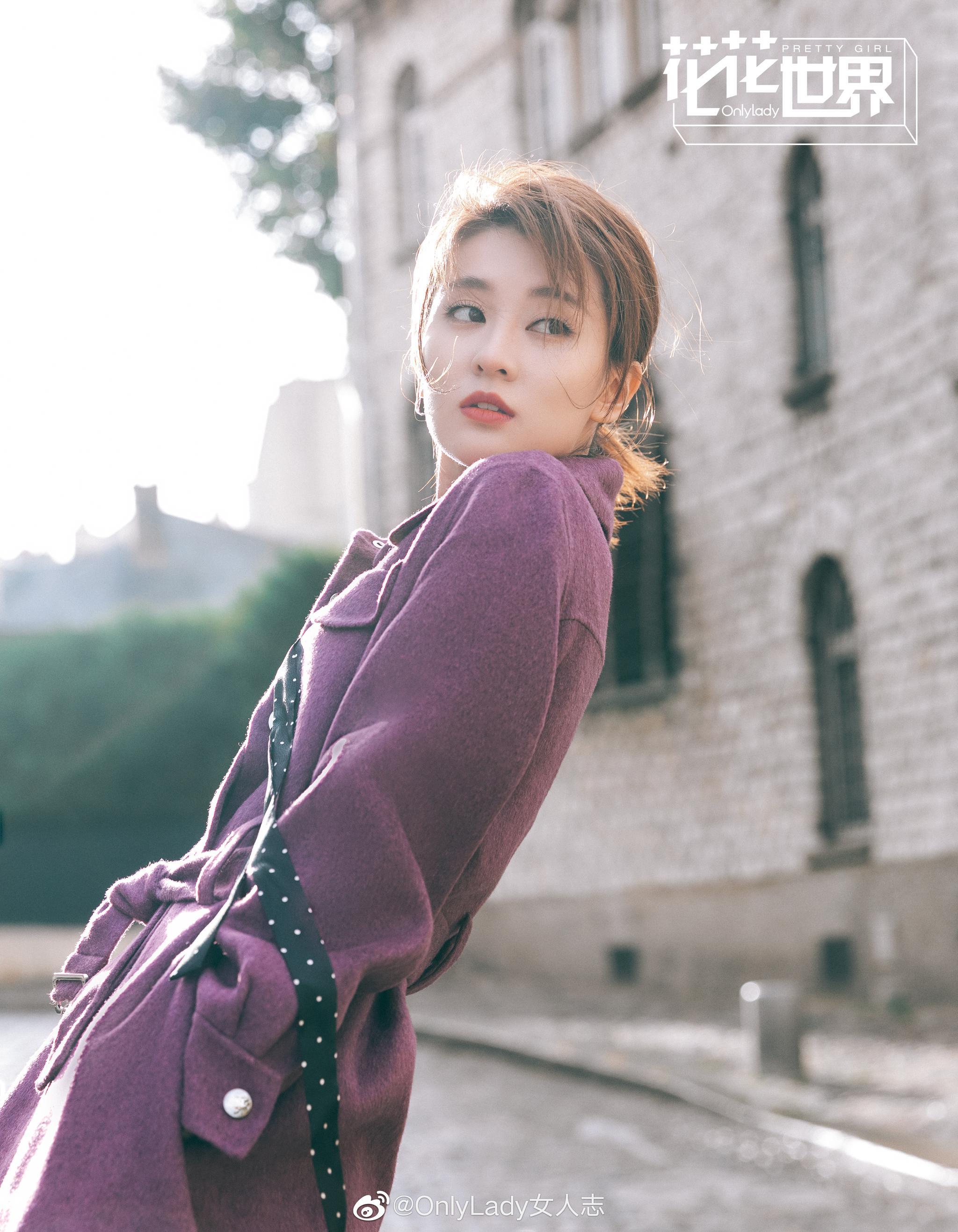 @乔欣Bridgette 巴黎街头演绎帅气休闲风