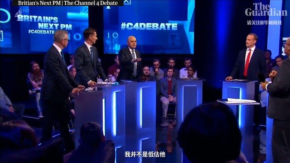 Video|英国首相候选人电视辩论,唯独鲍里斯·约翰逊缺席
