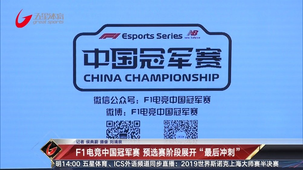 世界一级方程式电竞中国冠军赛、东区预选赛的选拔