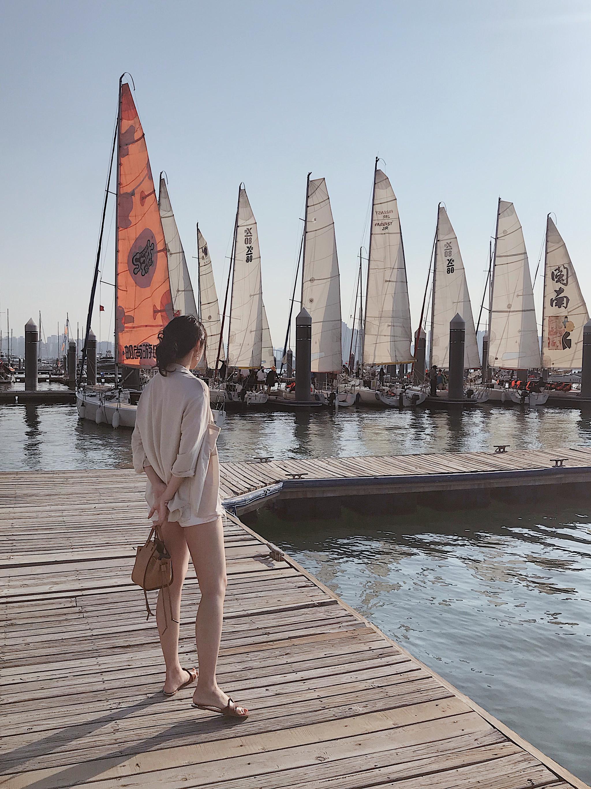 喜欢厦门呀!没有马达声,只有海浪声!记一次帆船体验~