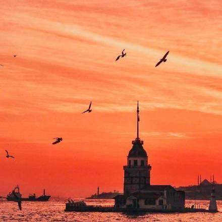 像是定格在油画里的伊斯坦布尔的落日余晖~
