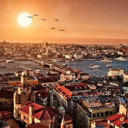 土耳其伊斯坦布尔,历史超过1500年的圣索菲亚大教堂。
