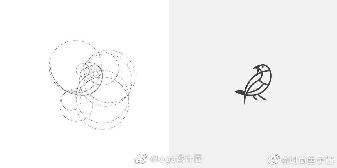 LOGO网格设计线辅助美学logo应用道路|辅助线勘察设计实例图片