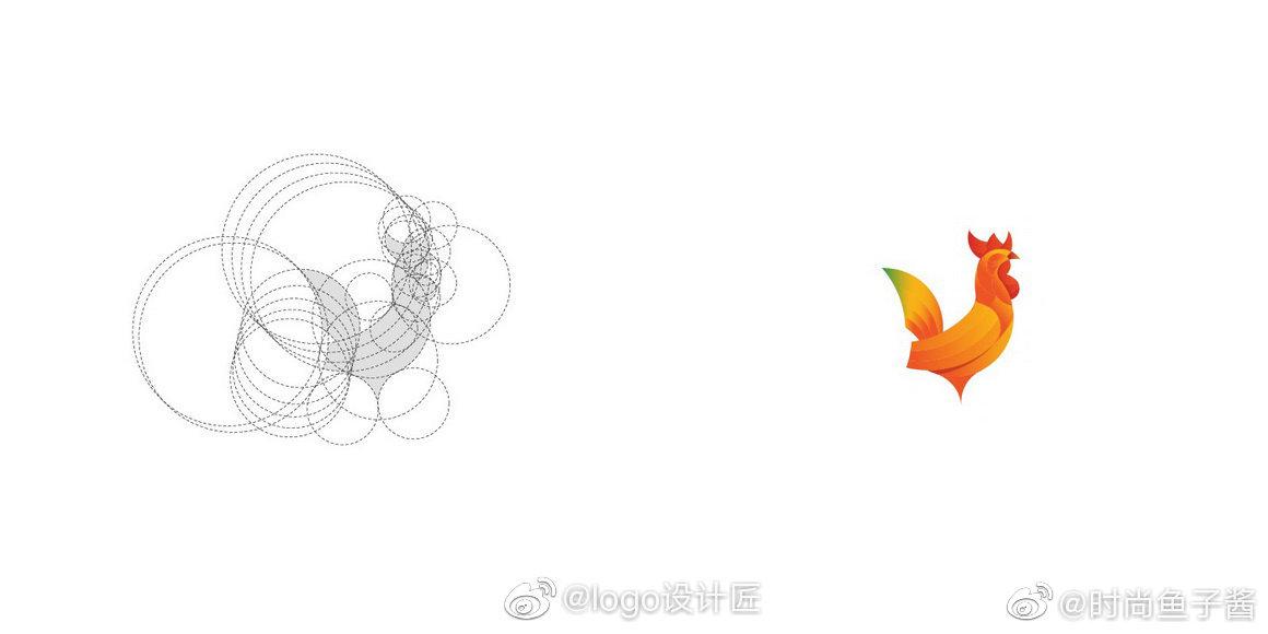 LOGO实例辅助线设计美学logo应用网格|辅助线原则的景观设计学校图片