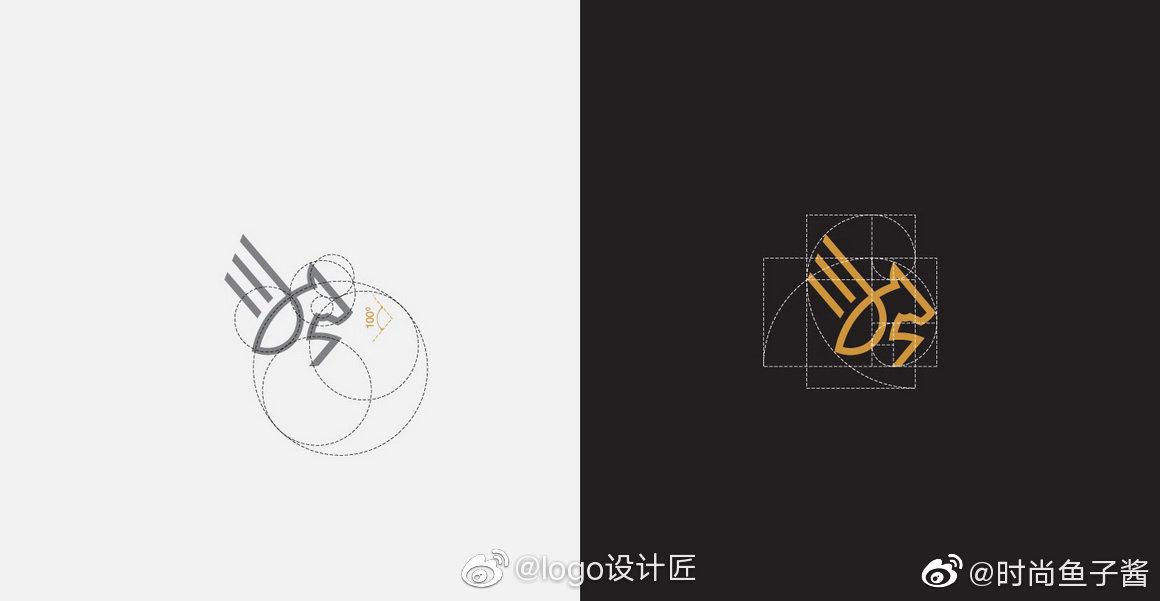 LOGO网格应用线辅助美学logo辅助实例|设计线房地产平面设计是做什么的图片