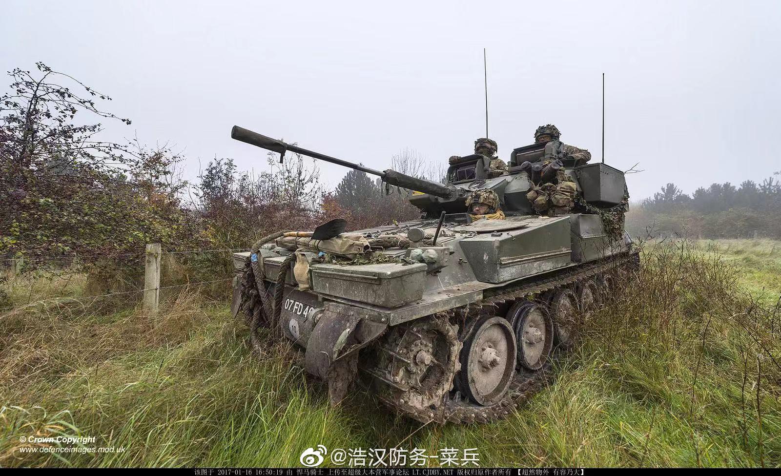 英国的弯刀/蝎式轻型坦克真的可以说独具特色,虽然没有一辆悍马大