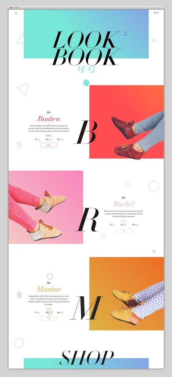时尚几何色彩网页设计