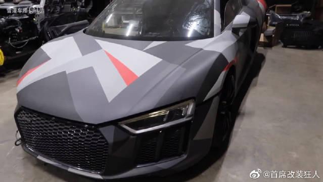 视频:53万RMB买了辆报废的奥迪R8,看如何修复!