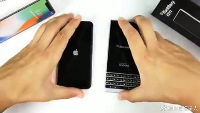 外国有人测试了iPhoneX和黑莓Key2的运行速度,猜猜结果如何?