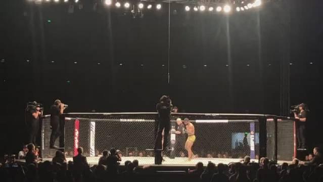中国选手李景亮第三回合TKO排名第十三的多斯桑托斯