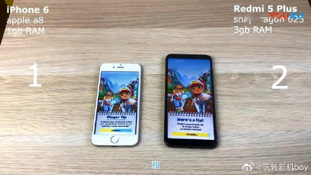 现在再看iPhone6和红米5plus速度评测,安卓和ios谁更流畅