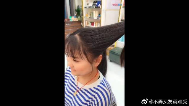 汉服发型教程,即使是没有假发包也可以拧出发拱,真的太实用了!