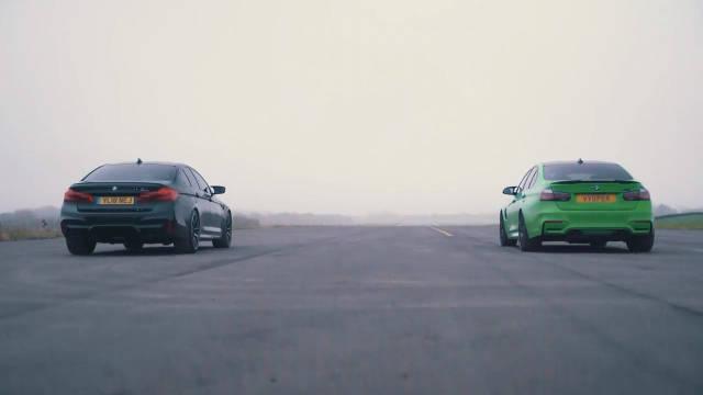 视频:BMW M5 CompM3 Comp性能测试