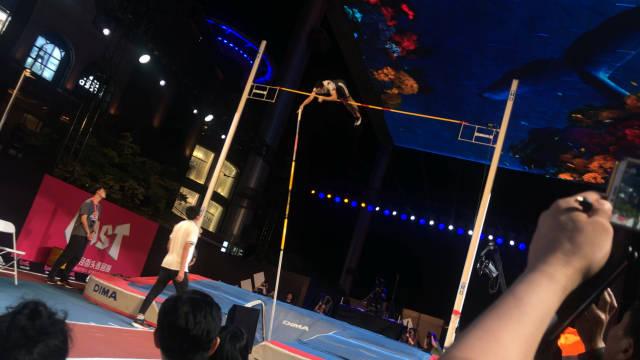 2019中国田径街头巡回赛北京站,男子撑竿跳高专项赛