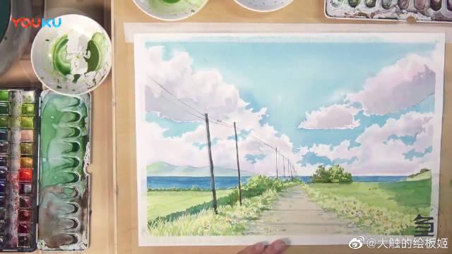 水彩风景插画示范, 如何让美好的事物定格在我们的笔尖