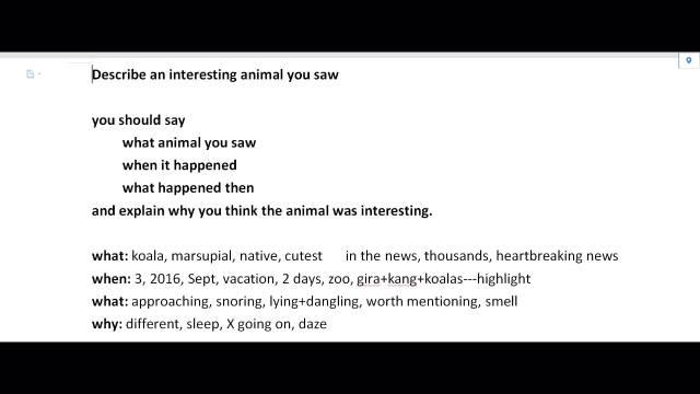 帅哥回答当季Part2—deacribe an animal