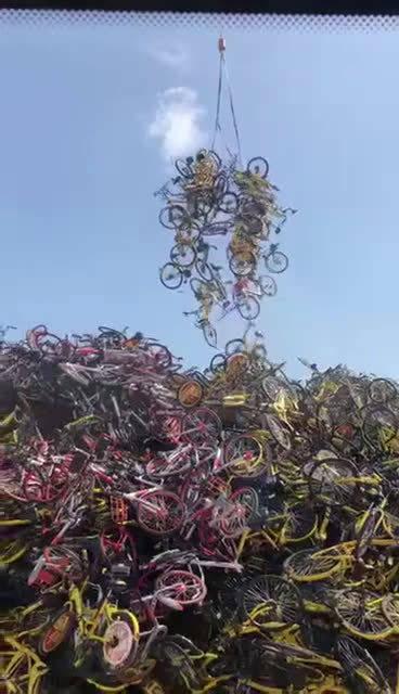 共享单车坟场