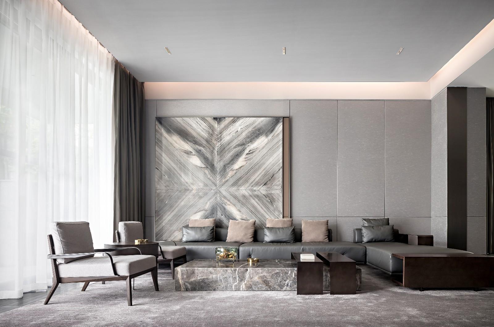 HTD环廷设计 莫兰迪色演绎现代奢华空间/汕头室内设计/汕头设计师/揭