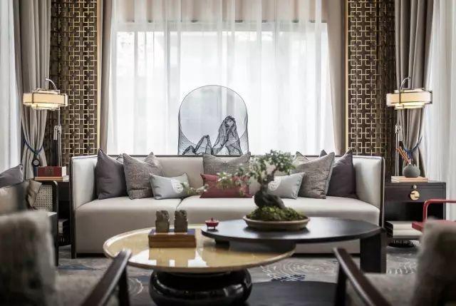 新中式沙发墙简直美醉了,还是新中式风格的设计比较好看