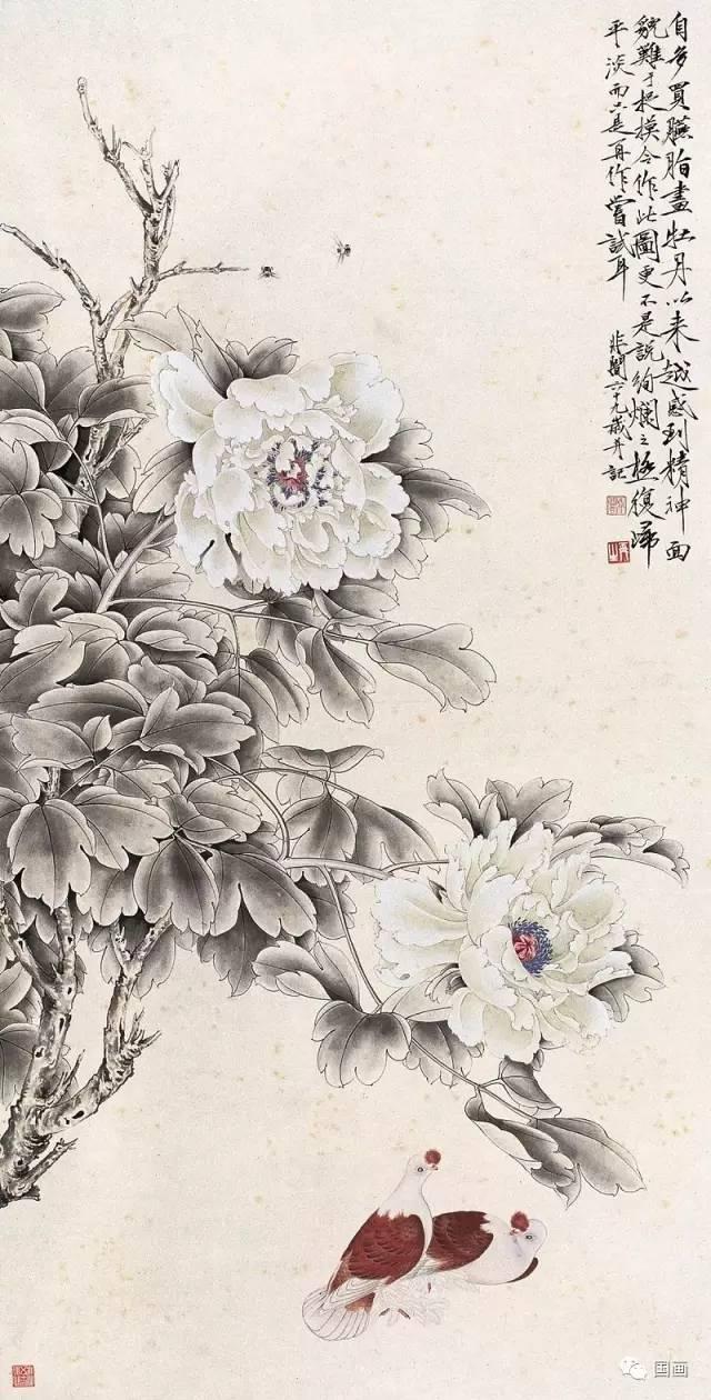 中国画牡丹180幅,美醉了,大饱眼福!