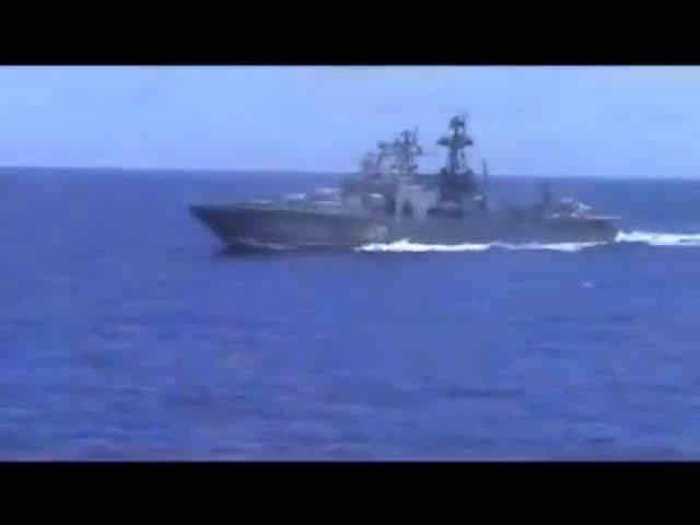 美俄军舰差点相撞1