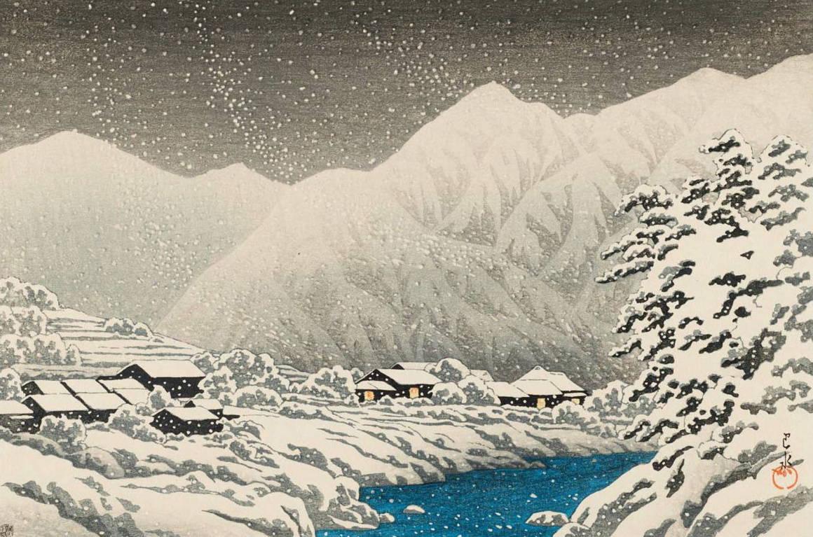 1929年雪中的上野公园  川濑巴水