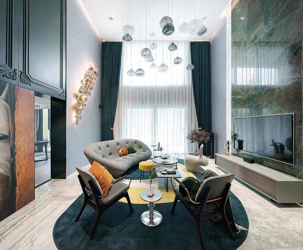 上海300平半岛花园复式私人住宅|@木梵空间设计