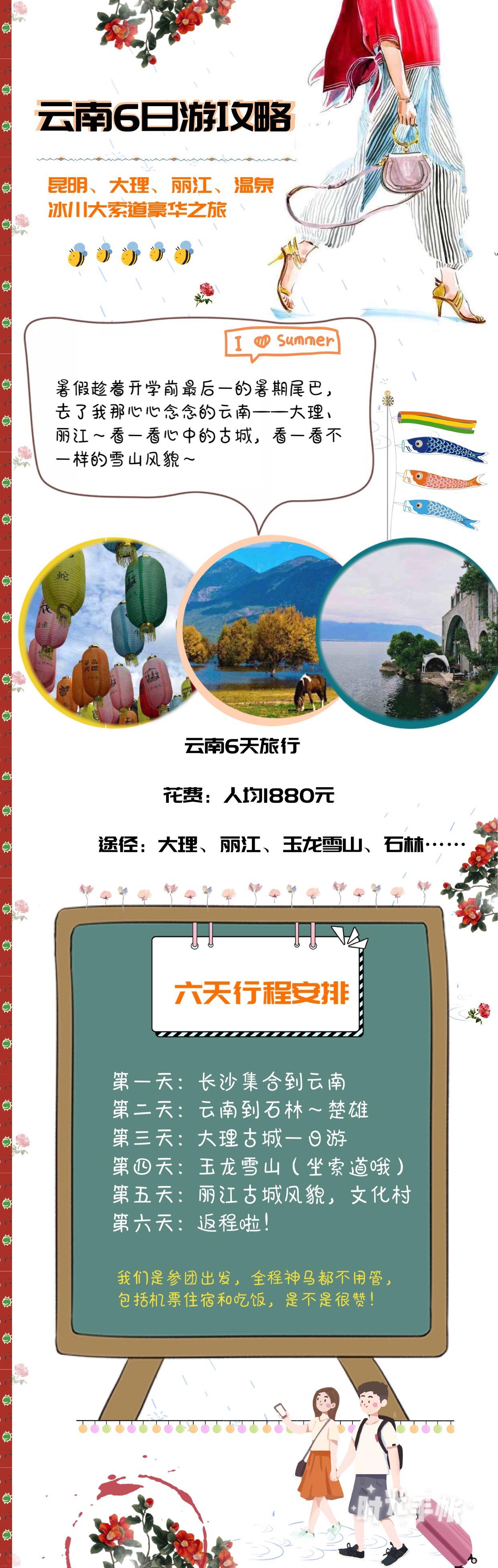 很多人的梦想:去大理、丽江、玉龙雪山、洱海……但是去一次旅行