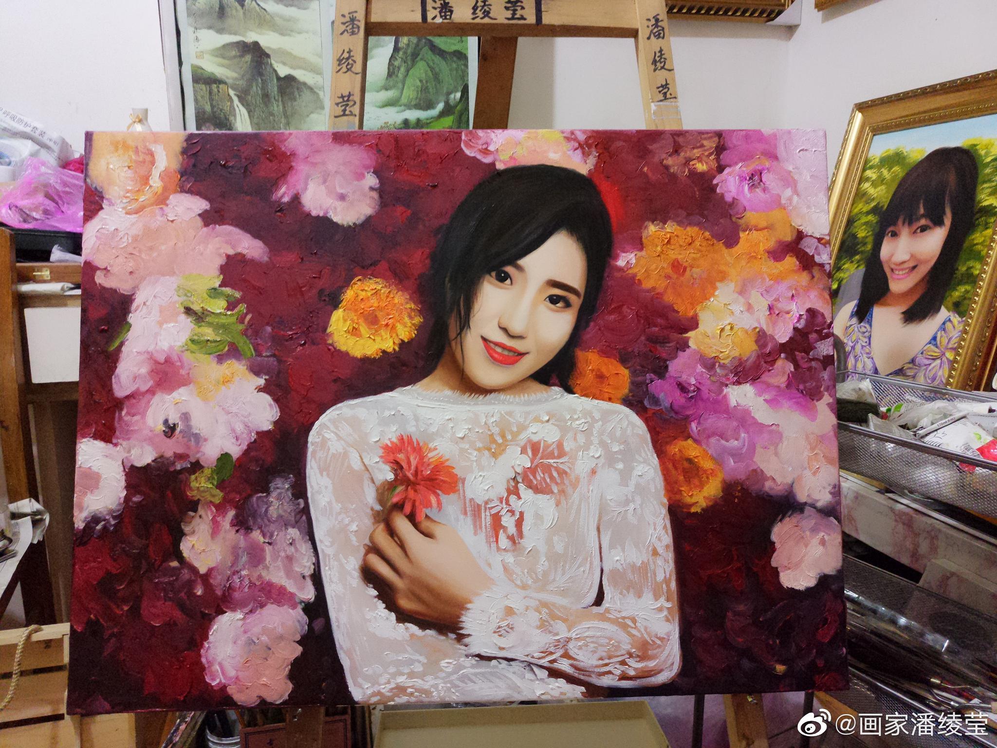 我画的美女油画