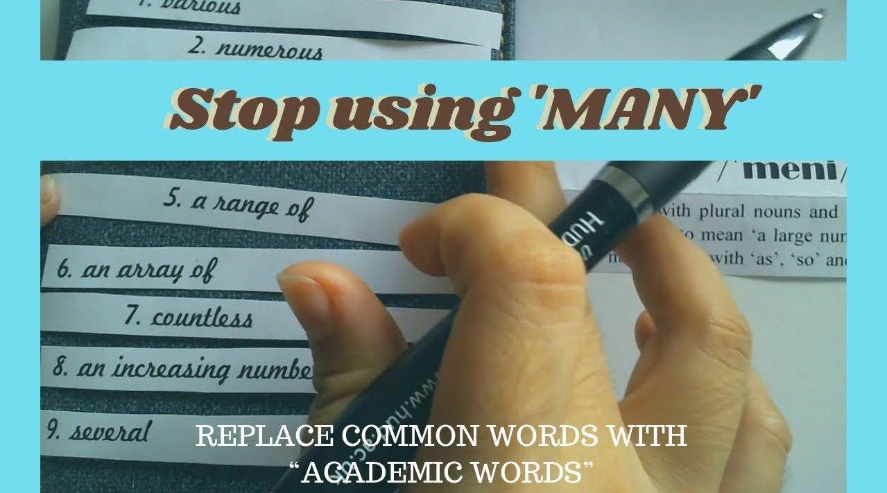 """雅思口语同义替换技巧:别再用""""Many"""",用高分的""""学术词汇"""""""