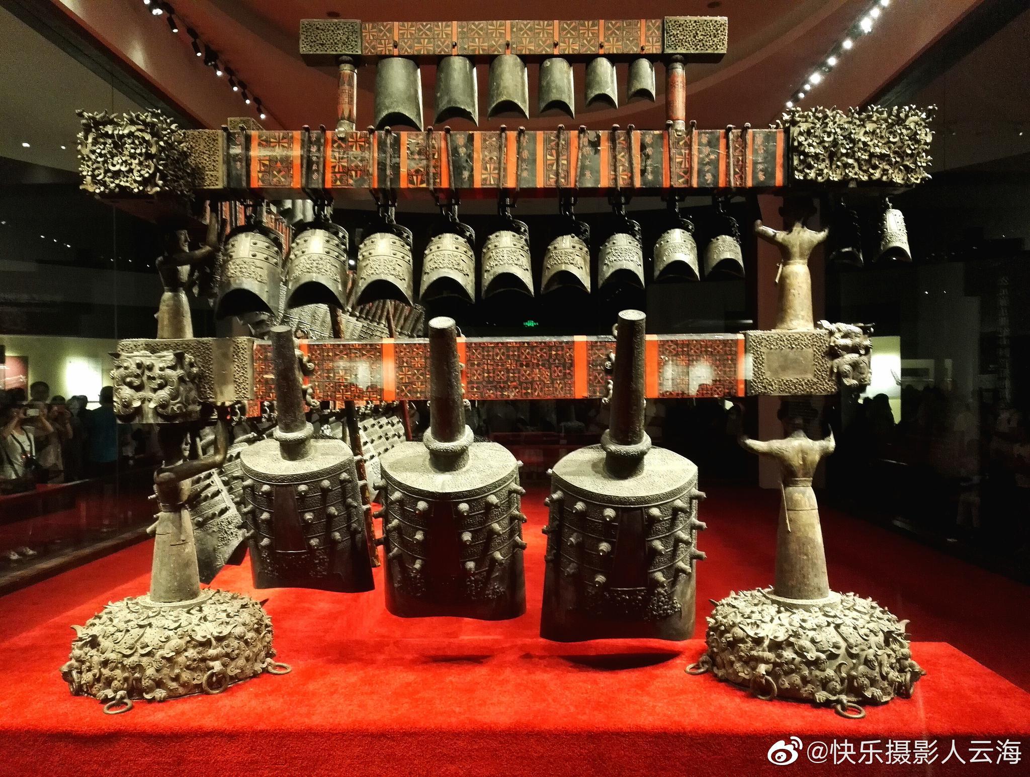武汉,湖北省博物馆,曾侯乙编钟。