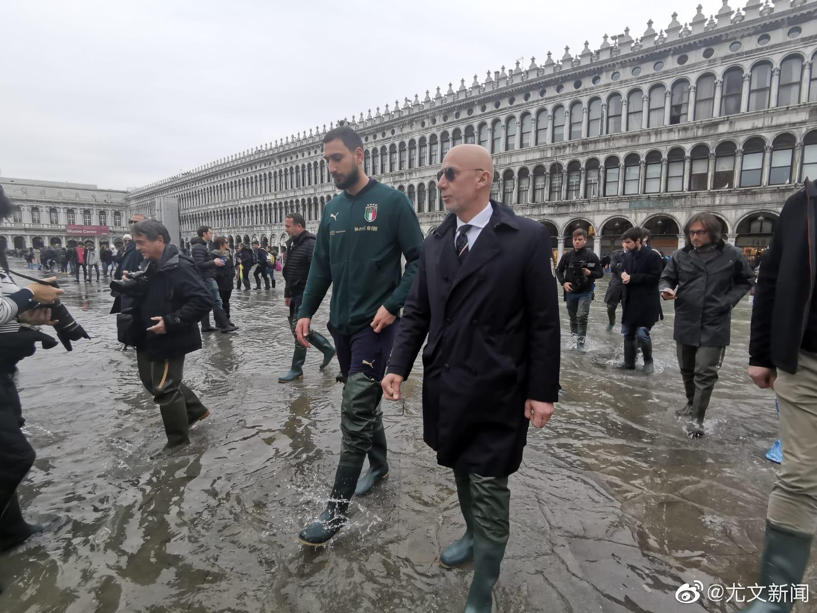 意大利国家队今天安排唐纳鲁马和维亚利来到威尼斯