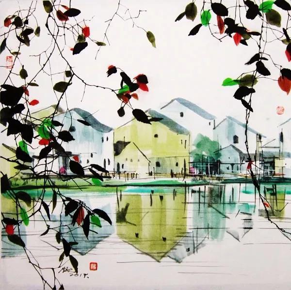 美丽迷人,质朴清新,恬静幽雅,让人陶醉的秋天|汪钰元 彩墨作品