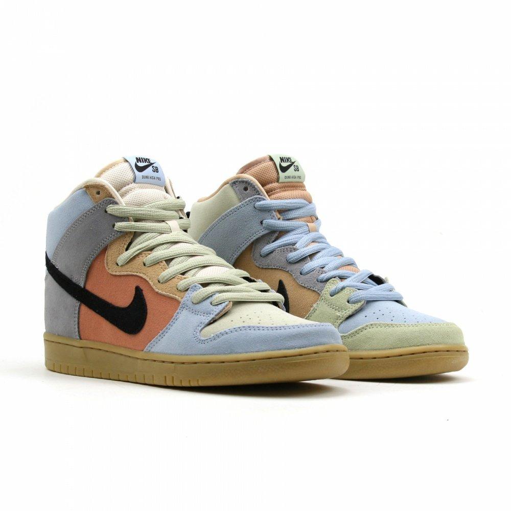 "Nike SB Dunk High ""Easter Spectrum""拼接滑板,三色穿搭"
