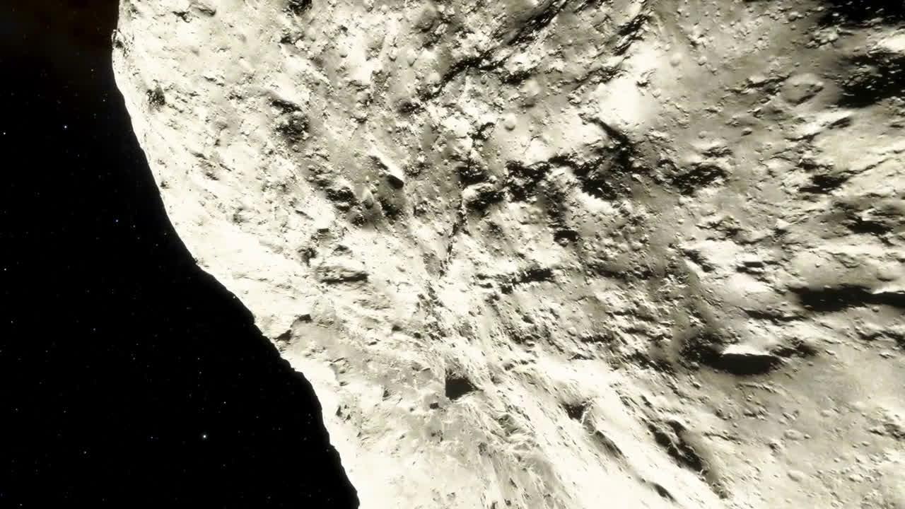 这里是?没错,这就是小行星的表面