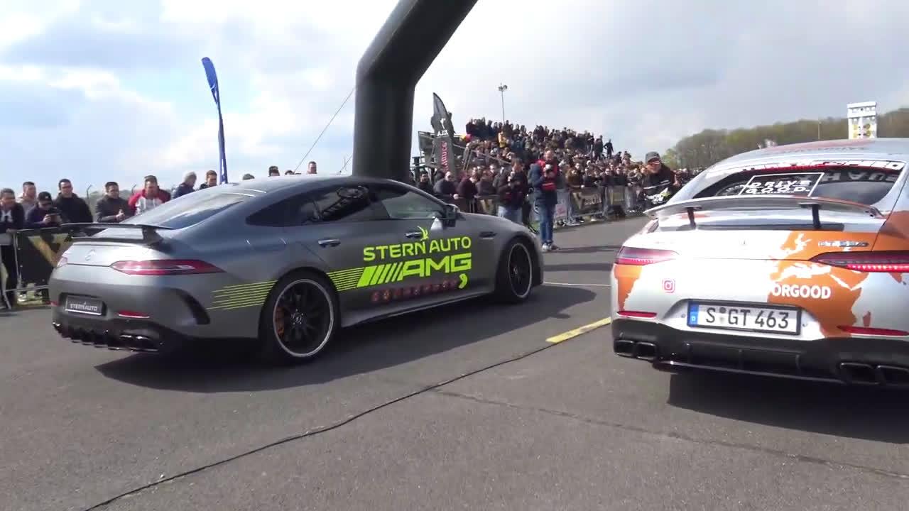 视频:兰博基尼AVENTADOR S vs奔驰AMG GT 63 S