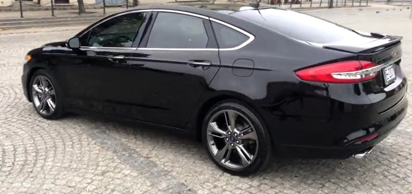 全新2019款福特蒙迪欧现身!黑色车身相当帅气 轴距2850mm配1.5t图片