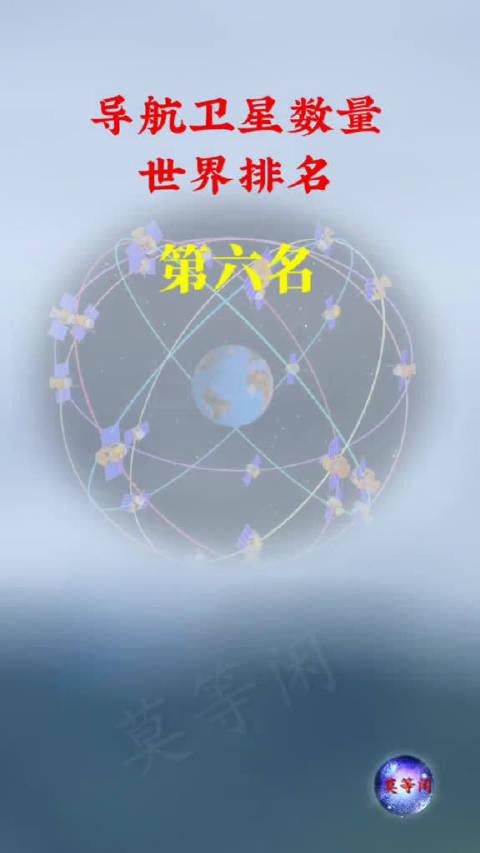 祝贺!中国导航卫星数量世界第一!