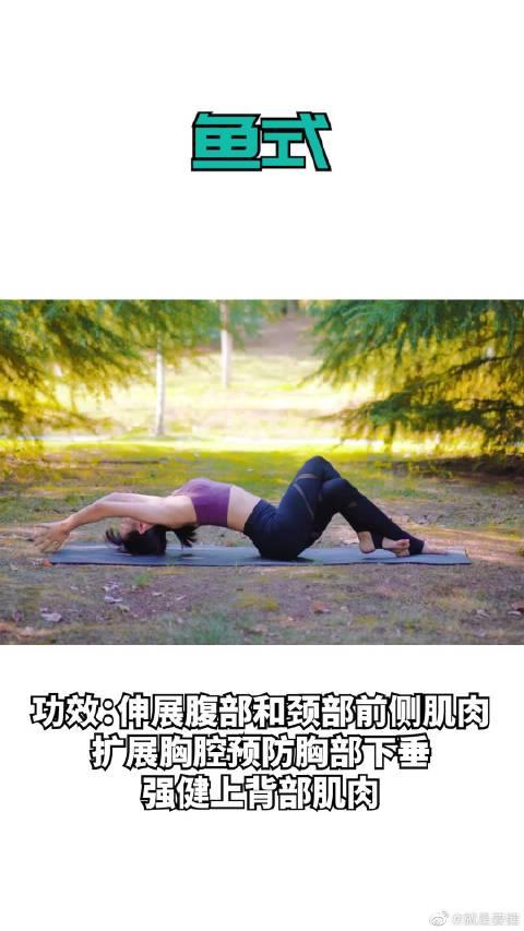 预防胸部下垂的瑜伽鱼式,可以收藏起来慢慢学习。