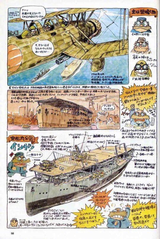 《宫崎骏的杂想笔记》 老爷子的想象力和创造力令人佩服